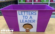 Leaders to a Letter