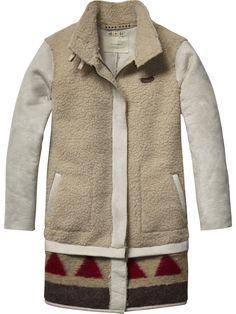 Faux Lammy Jacket | jackets | Girls Clothing at Scotch & Soda