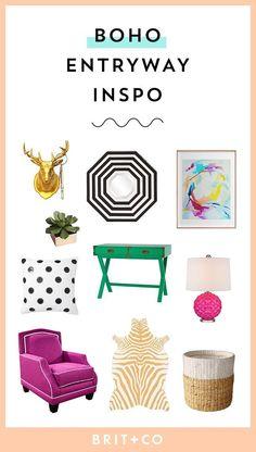 Bookmark these spring home decor pieces as inspo for your boho entryway.