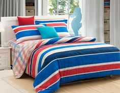 4-piece luxury stripes bedding sets Champs Elysees