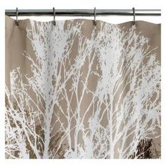 Forest Birch Tree Shower Curtain Extra Long Fabric Window