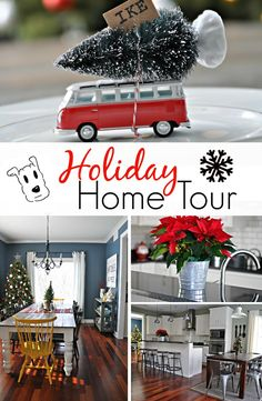 Holiday Home Tour.  Lots of simple holiday decorating ideas!