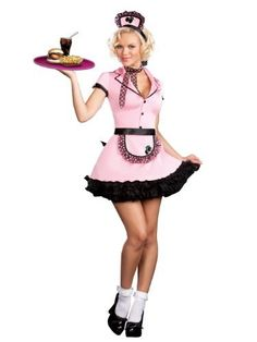 Cute 50s Costume Waitress Costume Pink Uniform Service 50s Diner Unknown, http://www.amazon.com/gp/product/B0044UFG7O/ref=cm_sw_r_pi_alp_BwGDqb0V11VB7