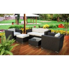 Nice outdoor set...maybe take out the table and put in a firepit table instead
