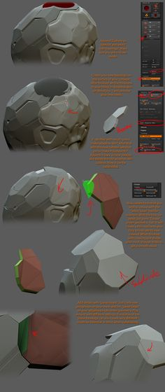 Creasing and Hard surface work flow for ZBrush Zbrush Tutorial, 3d Tutorial, Modeling Techniques, Modeling Tips, Sculpting Tutorials, Art Tutorials, Painting Tutorials, Hard Surface Modeling, Digital Sculpting