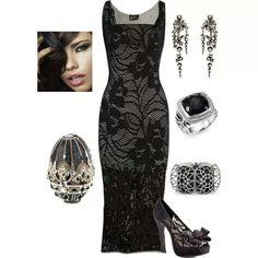 Black lace... Love the accessories