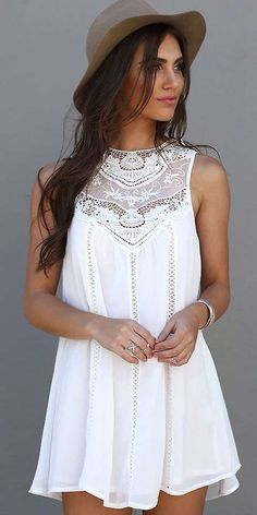 summer fashion crochet dress