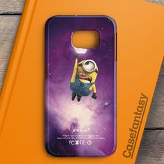 Despicable Me Minion Catch Apple Logo In Dr Who Tardis Samsung Galaxy S6 Edge Plus Case   casefantasy