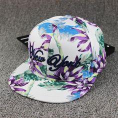 Hip Hop Cap Floral Casquette Snap Back Fashion Baseball Cap Gorras