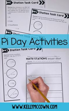 Pi day activities middle school. Pi day ideas and activities for Pi day party in your classroom! Pi day activities for grades 6, 7, 8.