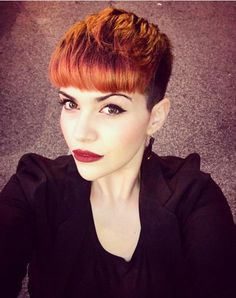 Short Hairstyle for Heart Face Shape - Short Haircut for Thick Hair 2016