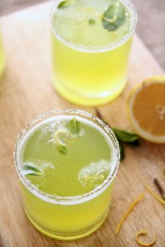 Lemon-mint cooler