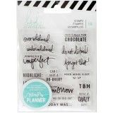 American Crafts 315131 Heidi Swapp Memory Planner Clear Stamps Day: These clear acrylic stamps are the perfect way to add some fun designs to your Heidi Swapp memory planner (sold separately). this package comes with 16 clear stamps