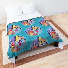 Corgi and tea Corgi Dog, Duvet, Comforters, Toddler Bed, Tea, Blanket, Furniture, Home Decor, High Tea