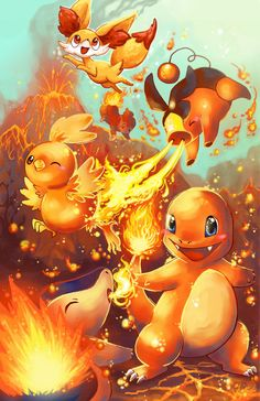 Fire starters with fennekin by michellescribbles.deviantart.com on @DeviantArt