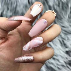 Love Affair Pink Marble Nude Rose Gold Matte Press On Nails Best Acrylic Nails, Acrylic Nail Designs, Nail Art Designs, Nails Design, Colored Acrylic Nails, Marble Nail Designs, Gold Nails, Pink Nails, Matte Pink