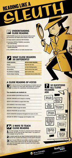 Understanding Close Reading - Teacher Infographic #weareteachers