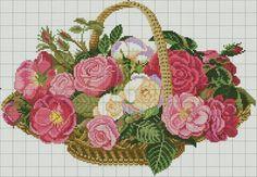 Cestino con rose