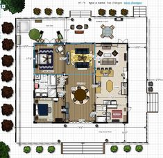 ideas about Dog Trot House on Pinterest   Cabin  Breezeway    dog trot house plans   created this dream in floor planner and as you