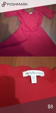 Charlotte Russe dress Red sweetheart dress. Brand new very pretty. Charlotte Russe Dresses Mini