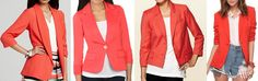.coral blazer