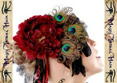 Hey, I found this really awesome Etsy listing at https://www.etsy.com/listing/83882472/burlesque-fascinator-peacock-feather