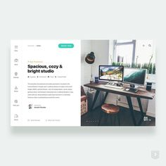 310 отметок «Нравится», 15 комментариев — Christian Vizcarra (@cvizcarra92) в Instagram: «Daily UI challenge - 20/365 Reserve studio design in house . . ——- In a few months I will travel,…»