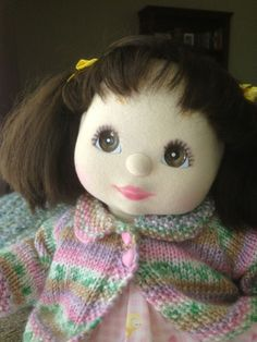 My Child Doll Brunette pigtails with brown eyes
