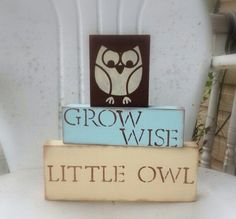 Grow wise little owl