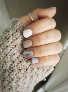 shellac nails 70 Simple Nail Design Ideas That Are Actually Easy Cute Acrylic Nails, Cute Nails, Cute Shellac Nails, White Shellac, Cute Simple Nails, Cute Simple Nail Designs, Simple Gel Nails, Short Gel Nails, Acrylic Tips