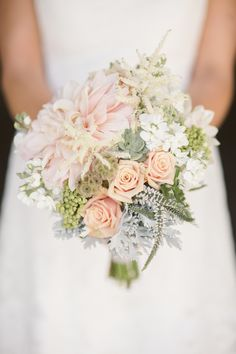 pastel bridal #bouquet Photography: Cluney Photo - www.cluneyphoto.com  Read More: http://www.stylemepretty.com/northwest-weddings/2014/04/11/montanta-mountain-destination-wedding/