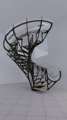 Escalier colimaçon en Métal, Acier, Fer - Ferronerie HF Métal à Toulouse Staircases, Toulouse, Metal Working, Stairs, Architecture, Nice, Furniture, Design, Home Decor