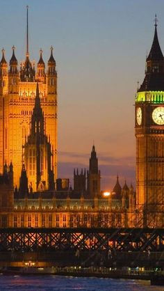 London at Night, England     #London #places