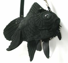 Collection of handmade creature bags by Atelier Iwakiri. Such excellent attention to detail...