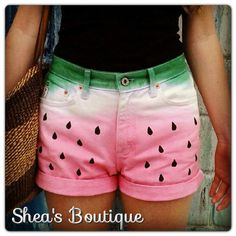 Watermelon Cut Off Shorts by SheaBoutique on Etsy, $45.00