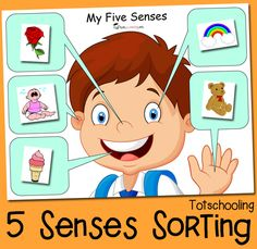 Use this free printable sorting activity to help children learn about the five senses! This 5 Senses Sorting activity is sure to be a hit with your little ones. It helps to build critical thinking sk Five Senses Kindergarten, Five Senses Preschool, 5 Senses Activities, My Five Senses, Sorting Activities, Kindergarten Science, Preschool Themes, Preschool Lessons, Preschool Learning