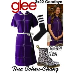 Tina Cohen-Chang (Glee) : In My Life by aure26 on Polyvore featuring polyvore, fashion, style, clothing and glee