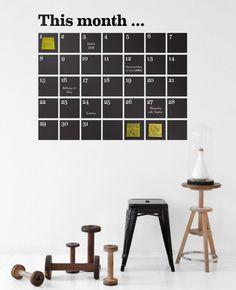 Gute Idee für einen stylischen Kalender