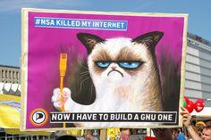 Grumpy Cat builds a GNU Internet | Flickr - Photo Sharing!