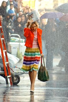 Carrie Bradshaw's 50 Best Looks. I think this is one of my favorites