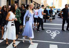 Stefania Allen carrying a Proenza Schouler Hava bag and Kate Davidson Hudson in Proenza Schouler dress and Hava bag