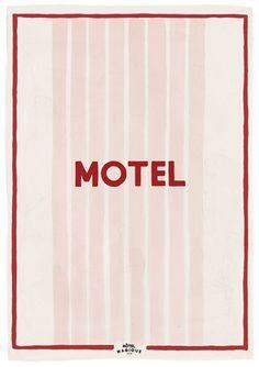 HOTEL MAGIQUE Motel art print. Shop online HOTELMAGIQUE.COM