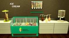 The Sims 4 | leo-sims Ice Cream Shop Deco | buy mode new objects