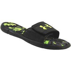 13f09db54ae912 Under Armour Ignite Breaker 5 Sl Slide Sandals - Mens Black Grey Graphite Mens  Slide Sandals