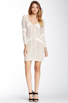 David Lerner Pieced Lace Dress  Was: 285.00$ Now: 129.97$