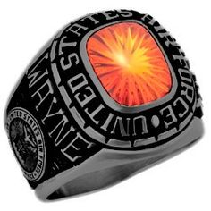 This ring has been scientifically coated with a black finish. Proving to be one of the most popular US Air Force for active and retired personnel.   FREE SHIPPING TODAY