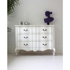 French Louis Chest in White