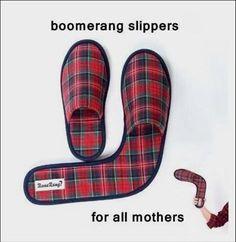 Boomerang slippers