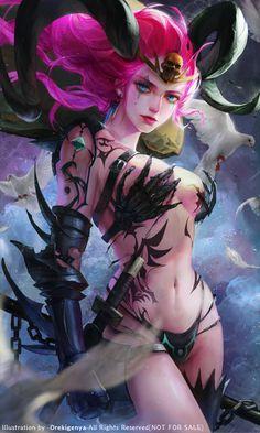 Demonic Zyra by OrekiGenya
