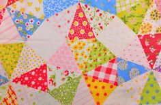 Vintage floral fabric Patchwork